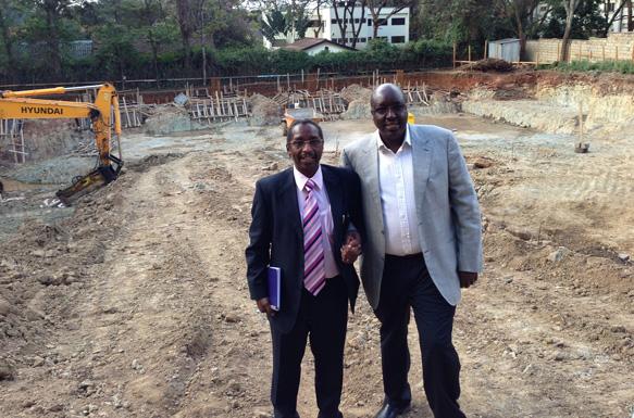 Luke Kinoti, Fusion Group CEO, on site with Project Promoter, Joseph Gitau Mburu